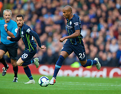 LIVERPOOL, ENGLAND - Sunday, October 7, 2018: Manchester City's Fernando Luiz Roza 'Fernandinho' during the FA Premier League match between Liverpool FC and Manchester City FC at Anfield. (Pic by David Rawcliffe/Propaganda)