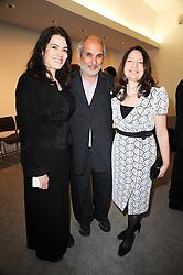 Left to right, NIGELLA LAWSON, SIR ALAN YENTOB and RICKIE BURMAN Director of the Jewish Museum at the opening reception of the new Jewish Museum, Raymond Burton House, 129-131 Albert Street, London NW1 on 16th March 2010.