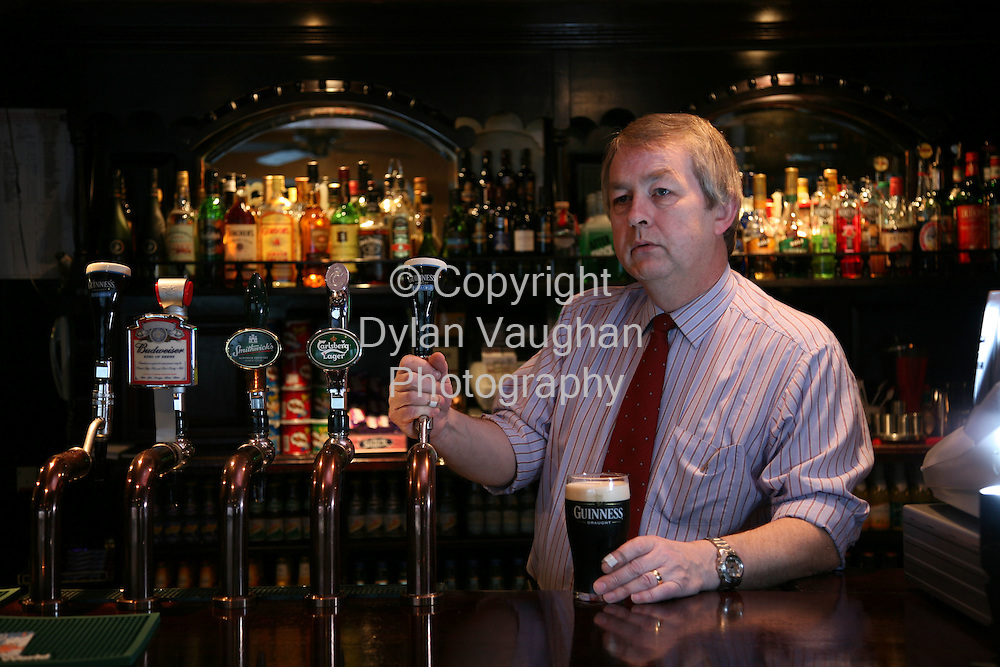 12/1/2007.Richard Dunne pictured in his bar in Stradbally County Laois..Picture Dylan Vaughan.