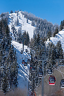 The Silver Queen Gondola on Aspen Mountain.
