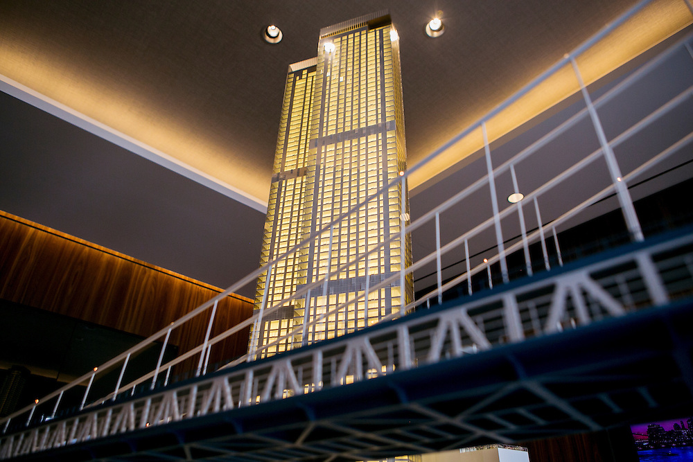 NEW YORK, NY - OCTOBER 28, 2016: A model of One Manhattan Square is seen in the property's showroom in New York, New York. CREDIT: Sam Hodgson for The New York Times.