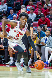 NORMAL, IL - December 07:  DJ Horne during a college basketball game between the ISU Redbirds and the Morehead State Eagles on December 07 2019 at Redbird Arena in Normal, IL. (Photo by Alan Look)