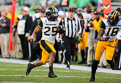 Nov 25, 2017; Huntington, WV, USA; Southern Miss Golden Eagles running back Ito Smith (25) runs the ball during the third quarter against the Marshall Thundering Herd at Joan C. Edwards Stadium. Mandatory Credit: Ben Queen-USA TODAY Sports