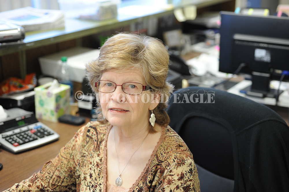 Oxford Eagle employee Cathy Herren in Oxford, Miss. on Thursday, January 29, 2015.