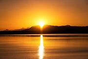 Sunrise acroos Bellingham Bay, Washington, USA.