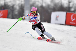SMARZOVA Petra LW6/8-2 SVK competing in the ParaSkiAlpin, Para Alpine Skiing, Slalom at the PyeongChang2018 Winter Paralympic Games, South Korea.