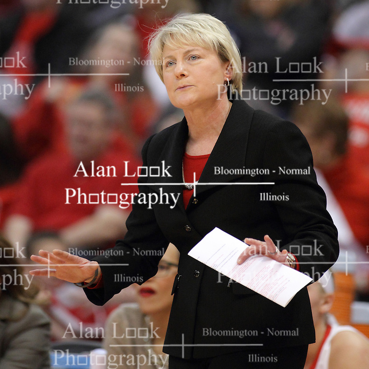 04 January 2015:  Barb Smith during an NCAA MVC (Missouri Valley Conference) women's basketball game between the Southern Illinois Salukis and the Illinois Sate Redbirds at Redbird Arena in Normal IL
