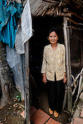 A woman in her home on Binh Thanh Island, Vietnam.