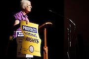 Peggy Gish speaks at the 50th Anniversary of the March on Washington at Templeton -Blackburn Alumni Memorial Auditorium on August 28, 2013.