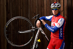Slovenian rider Marko Kump of Adria Mobil Team  at fotosession, on April 22, 2010, in Novo mesto, Slovenia.  (Photo by Vid Ponikvar / Sportida)