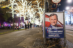 19.11.2016, Innenstadt, Wien, AUT, Wahlkampf zur Präsidentschaftswahl 2016, im Bild Plakate von Präsidenschaftskandidat Hofer // placards of candidate of the austrian freedom party Hofer according to austrian presidential elections iin Vienna, Austria on 2016/11/19, EXPA Pictures © 2016, PhotoCredit: EXPA/ Michael Gruber