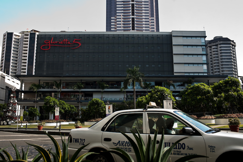 Glorietta 5 mall, Manila. The capital of the Philippines is a city of contrasts.