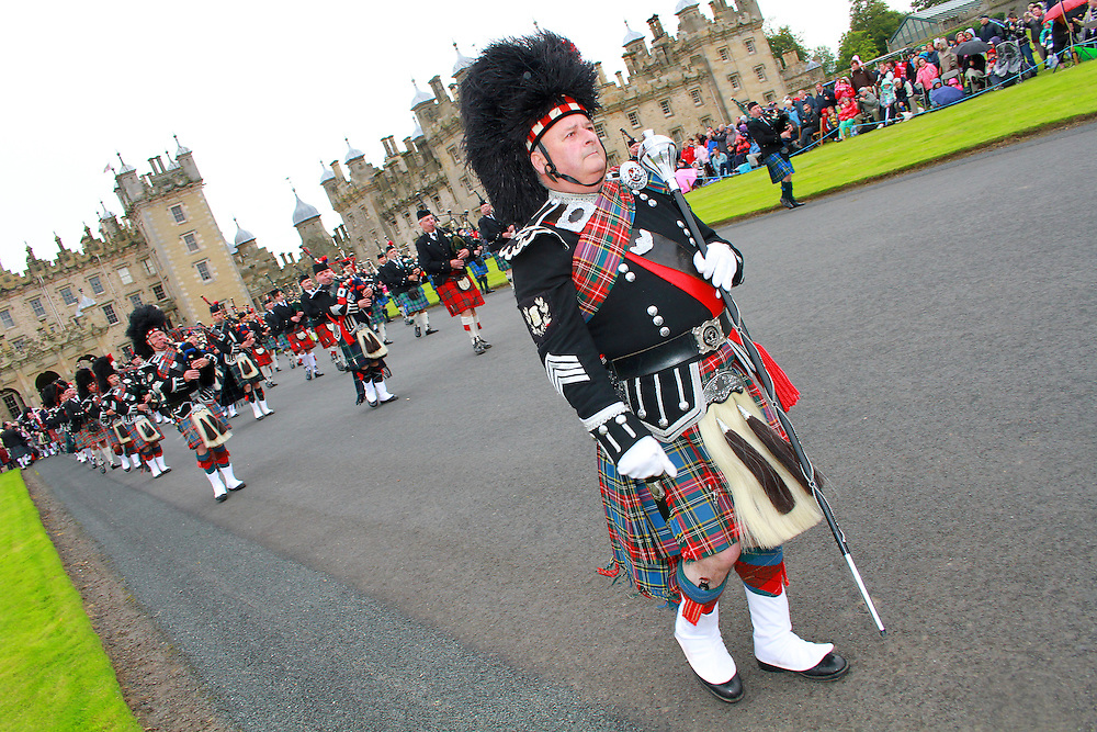 Massed Pipe Bands day held at Floors Castle in the Scottish Borders