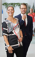 Gothenborg, 10-09-2015<br /> <br /> Pregnant Crown Prince Victoria and Princess Daniel at their visit to AstraZeneca.<br /> <br /> <br />  Photo: Royalportraits Europe/Bernard Ruebsamen