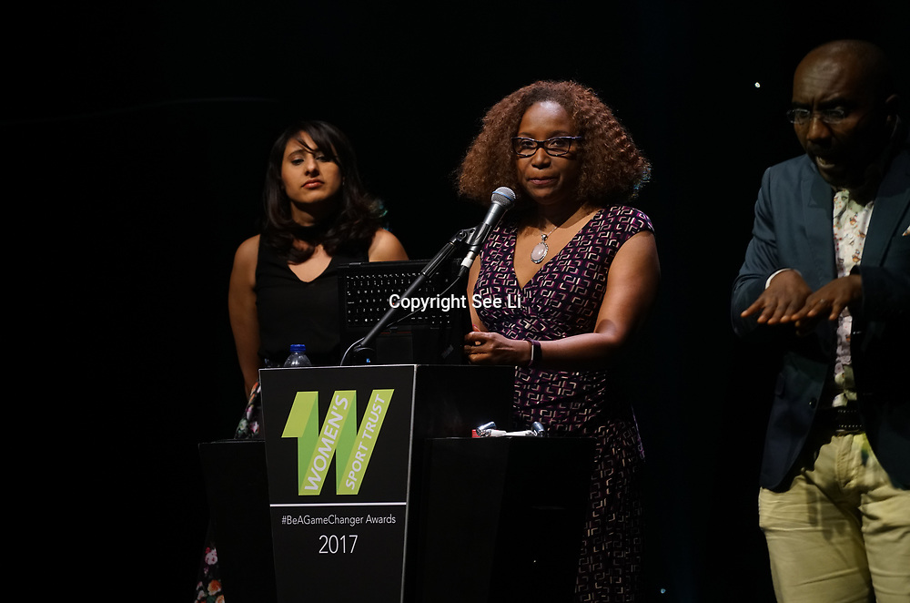 London,England,UK. 11th May 2017. Microsoft sponsor Sarbjit Sahota,Tracey Haynes attends the Women's Sport Trust Awards - #BeAGameChanger at The Troxy,london, UK. by See Li