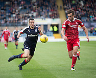 Dundee&rsquo;s Michael Duffy and Aberdeen&rsquo;s Andrew Considine - Dundee v Aberdeen in the Ladbrokes Scottish Premiership at Dens Park, Dundee. Photo: David Young<br /> <br />  - &copy; David Young - www.davidyoungphoto.co.uk - email: davidyoungphoto@gmail.com