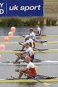 Eton, GREAT BRITAIN, Heat 3 Start men's M1X,   moving  away from the start.   2006 World Rowing Championships, 20/08/2006.  Photo  Peter Spurrier, © Intersport Images,  Tel +44 [0] 7973 819 551,  email images@intersport-images.com , Rowing Courses, Dorney Lake, Eton. ENGLAND
