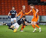 Jesse Curran of Dundee is brought down by Dundee United's Logan Martin  - Dundee United v Dundee, SPFL Under 20 Development League at Tannadice Park, Dundee<br /> <br />  - &copy; David Young - www.davidyoungphoto.co.uk - email: davidyoungphoto@gmail.com