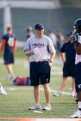 Wide Receivers Coach Wayne Lineburg..The 2007 Virginia Cavaliers football team opened fall practice on August 6, 2007 at the University of Virginia football practice fields near the McCue Center in Charlottesville, VA.