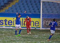 CESENA, ITALY - Tuesday, January 22, 2019: Italy's Ilaria Mauro celebrates scoring the second goal during the International Friendly between Italy and Wales at the Stadio Dino Manuzzi. (Pic by David Rawcliffe/Propaganda)