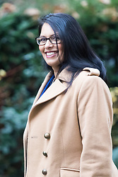 Downing Street, London, December 13th 2016. International Development Secretary Priti Patel arrives at the weekly meeting of the cabinet at Downing Street, London.