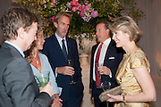 GEORDIE GREIG; ANGIE RUTHERFORD; MIKE RUTHERFORD; VISCOUNT LINLEY; LADY SERENA LINLEY, The Cartier Chelsea Flower show dinner. Hurlingham club, London. 20 May 2013.