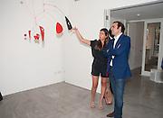 SARA ROURE; NICOLAS GRANATINO;, Pilar Ordovas hosts a Summer Party in celebration of Calder in India, Ordovas, 25 Savile Row, London 20 June 2012