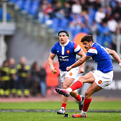 Romain Ntamack during the Guinness Six Nations match between Italy and France on March 16, 2019 in Rome, Italy Photo : Alfredo Falcone / LaPresse / Icon Sport