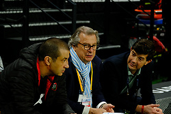 April 8, 2018 - Nanterre, Hauts de Seine, France - RC Toulon owner MOURAD BOUDJELLAL and Racing 92 owner JACKY LORNZETTI during the French rugby championship Top 14 match between Racing 92 and RC Toulon at U Arena Stadium in Nanterre - France..Racing 92 Won  17-13. (Credit Image: © Pierre Stevenin via ZUMA Wire)