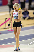 Ivona Dadic (Austria), Pentathlon, Shot Put, during the European Athletics Indoor Championships 2019 at Emirates Arena, Glasgow, United Kingdom on 1 March 2019.