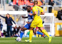 Abu Ogogo of Bristol Rovers is challenged by Alex Pattison of Wycombe Wanderers - Rogan/JMP - 10/08/2019 - FOOTBALL - Memorial Stadium - Bristol, England - Bristol Rovers v Wycombe Wanderers - Sky Bet League 1.
