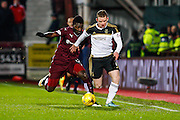 Aberdeen FC Midfielder Jonny Hayes on the attack during the Scottish Cup fourth round match between Heart of Midlothian and Aberdeen at Tynecastle Stadium, Gorgie, Scotland on 9 January 2016. Photo by Craig McAllister.