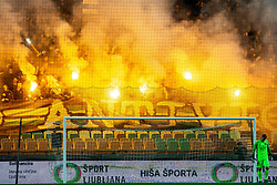 Green Dragons, supporters of Olimpija during Football match between NK Olimpija and NK Maribor in 23rd Round of Prva liga Telekom Slovenije 2018/19 on March 16, 2019, in SRC Stozice, Ljubljana, Slovenia. Photo by Vid Ponikvar / Sportida