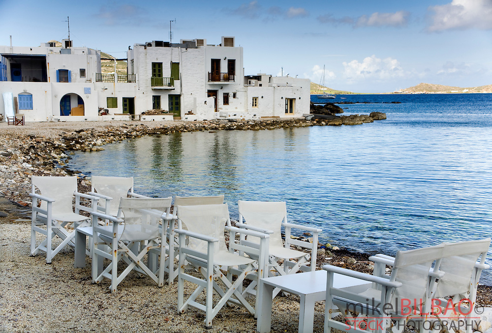 Naoussa village, Paros island, Cyclades islands, Aegean Sea, Greece, Europe