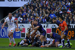 February 23, 2019 - Saint Denis, Seine Saint Denis, France - The scrum-half of Scotland team GREIG LAIDLAW in action during the Guinness Six Nations Rugby tournament between France and Scotland at the Stade de France - St Denis - France..France won 27-10 (Credit Image: © Pierre Stevenin/ZUMA Wire)