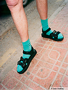 Socks and sandals Ibiza 2001