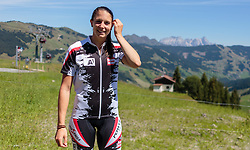 04.08.2015, Zwölferkogel, Saalbach Hinterglemm, AUT, ÖSV, Medientermin mit ÖSV Abfahrerinnen, im Bild Mirjam Puchner // during a media event with the OeSV women Downhill Team at the Zwölferkogel in Saalbach Hinterglemm, Austria on 2015/08/04. EXPA Pictures © 2015, PhotoCredit: EXPA/ JFK