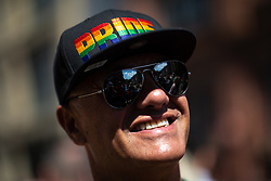 © Licensed to London News Pictures . 05/08/2018. Leeds, UK. Leeds Gay Pride parade through the Yorkshire city's centre . Leeds's annual Gay Pride festiva celebrates the city's LGBTQ+ life and culture . Photo credit: Joel Goodman/LNP