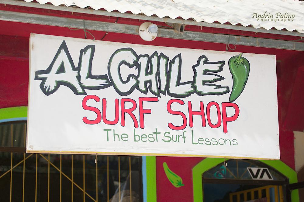 Surf shop sign, Santa Teresa, Costa Rica