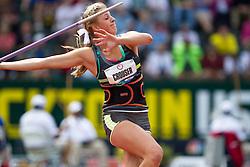 2012 USA Track & Field Olympic Trials: high school athlete Haley Crouser, womens javelin