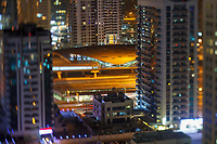 Dubai Marina metro station view