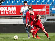 FODBOLD: Thomas Guldborg Christensen (Lyngby BK) under kampen i Reserveligaen mellem Lyngby Boldklub og FC Helsingør den 11. september 2017 på Lyngby Stadion. Foto: Claus Birch