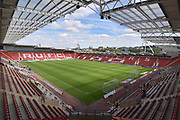Rotherham United stadium before the EFL Sky Bet Championship match between Rotherham United and Ipswich Town at the AESSEAL New York Stadium, Rotherham, England on 11 August 2018.