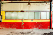Large industrial garage abandoned, interior
