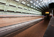 Image of a Washington, D.C. metro train at Union Station.