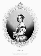 Victoria (1819-1901) Queen of Great Britain and Ireland from 1838. Victoria c1850. Engraving.