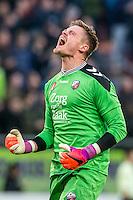 UTRECHT - FC Utrecht - SC Heerenveen , Voetbal , Eredivisie , Seizoen 2016/2017 , Stadion Galgenwaard , 05-02-2017 ,   FC Utrecht keeper David Jensen is uitzinnig na de 1-0 van zijn team