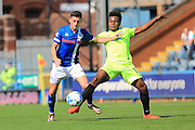 Ian Henderson, Shaquile Coulthirst during the EFL Sky Bet League 1 match between Rochdale and Peterborough United at Spotland, Rochdale, England on 6 August 2016. Photo by Daniel Youngs.