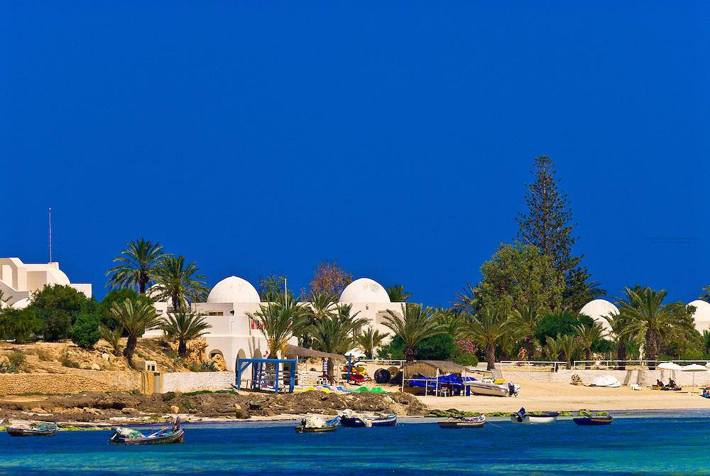 Mediterranean Sea beach at Club Med Djerba La Douce, Djerba Island, Tunisi