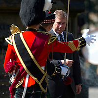 Edinburgh, Holyrood Palace 19th May 2007 HRH The Duke of York  in quality of Lord Commissioner to the General Assembly of the Church of Scotland inspect the Royal Highland Fusiliers 2nd  Battalion The Royal Regiment of Scotland